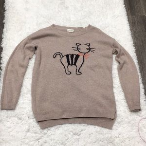 Maison Jules Cat Sweater